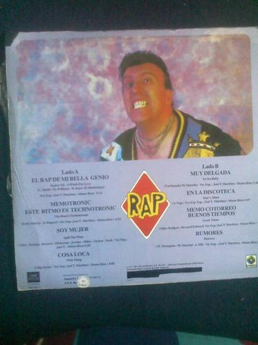 lp.memo rios. m.c.aplausos. rap. maxisingle.vinilo.acetato.