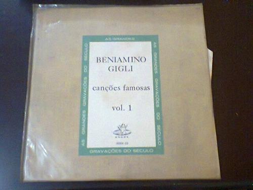 lp's beniamino gigli - cancões famosas. 02 lp's, vol 1 e 2.
