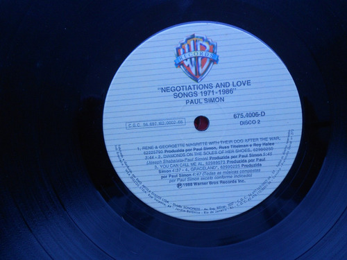 lps dulp paul simon p/1988-negotiations and love songs