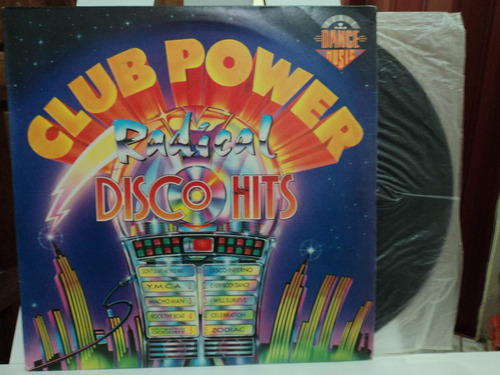 lp/vinil-club power radical:disco hits-perfeito estado.