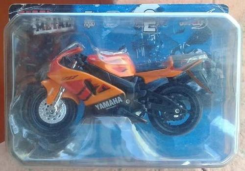 lsjp miniatura moto yamaha deltrbox laranja escala 1.18