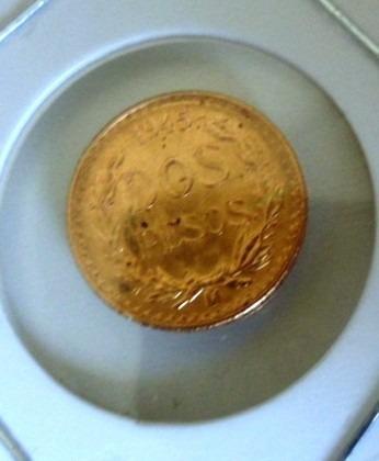lt707: moeda de ouro do méxico 2 pesos 1945, 1,7 g ouro 22k