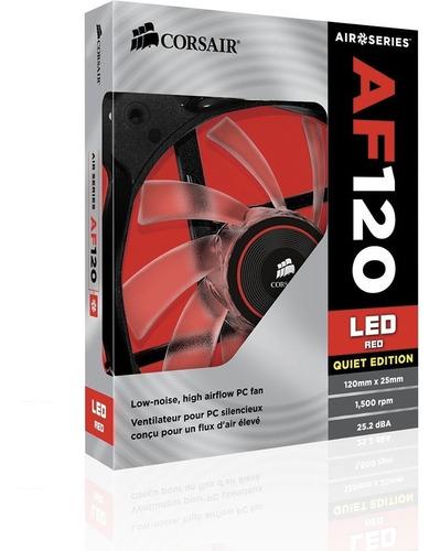ltc cooler ventilador corsair af120 azul/rojo/blanco de case