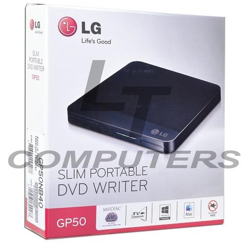 ltc grabador dvd/+rw-rw externo usb 2,0  lg gp50 nb40 slim