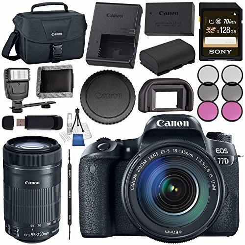 << canon >> cámara dslr eos 77d con 18-135mm...