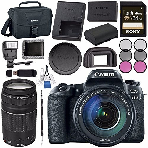 << canon >> cámara eos 77d dslr con 18-135mm...