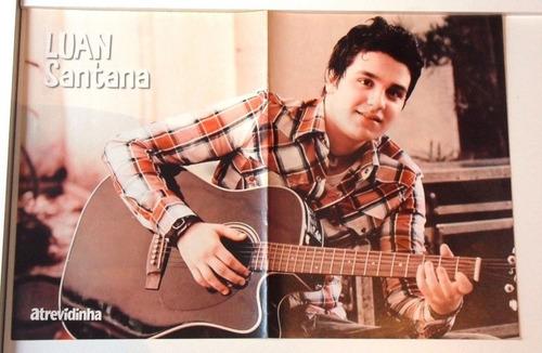 luan santana+justin+...posters atrevidinha ed.74-otima