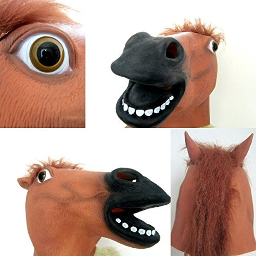 lubber horse head latex toy animal cabeza máscara para dis