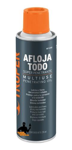 lubricante aceite aflojatodo en aerosol 235 ml - truper