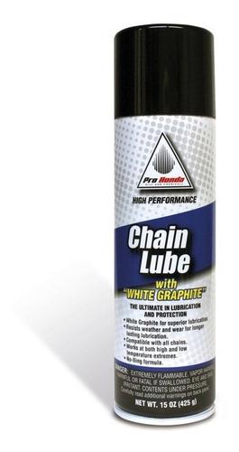 lubricante de cadena pro honda lube 445 ml grafito yuhmak