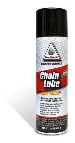 lubricante de cadena pro honda lube 445 ml molibdeno yuhmak