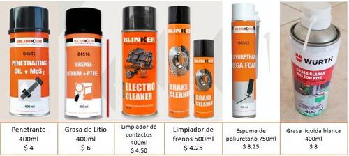 lubricantes y penetrantes para el taller.