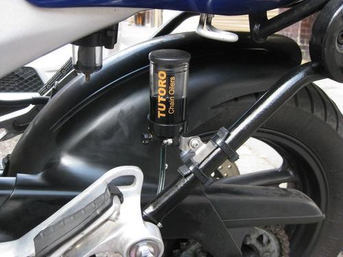 lubrificador automatico para corrente de motos tutoro + óleo