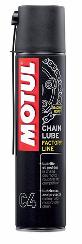 lubrificante corrente moto motul c4 chain lube factory 400ml
