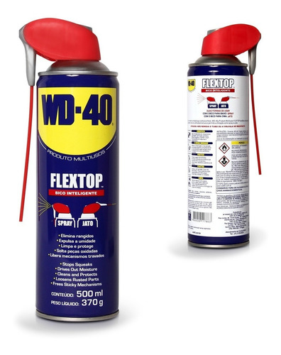 lubrificante multiuso flextop aerossol wd40 500ml