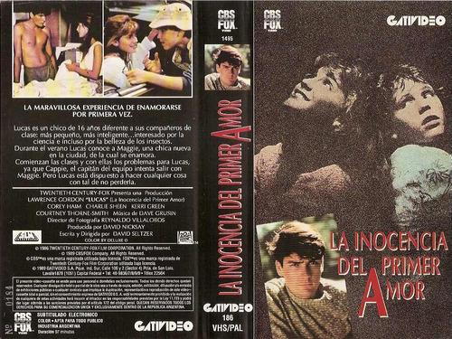 lucas, la inocencia del primer amor (1986) vhs