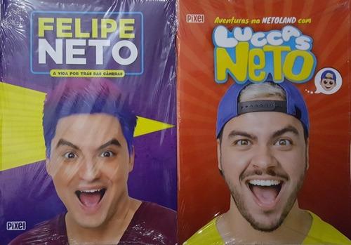 luccas neto + felipe neto 2 livros irmãos neto frete 20