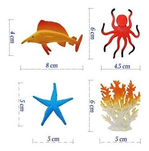 Mar figuras de animales Animal Juguetes 38 Pack Mini criatura del mar Conjunto de juguetes figuras de peces