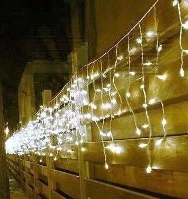 luce led 300 focos cascada cálida navidad 6m | envío hoy
