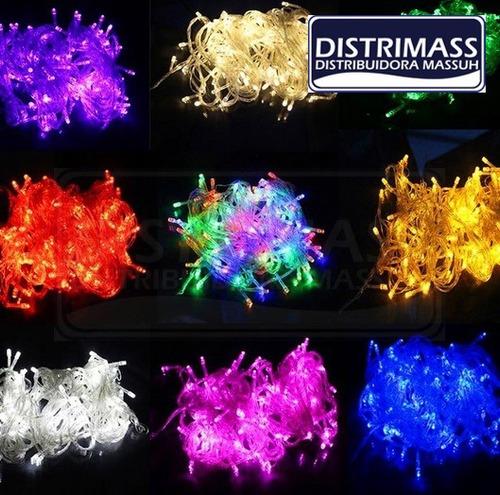 luces 100 focos led navidad varios colores intensos