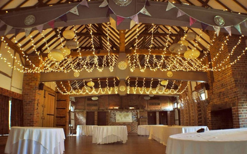 luces 100led 10m  luz blanco calido ambar vintage fiesta