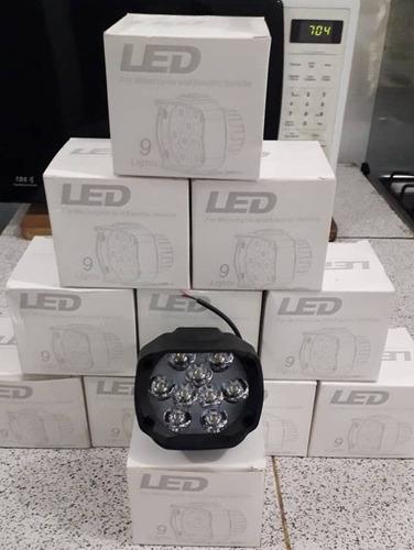 luces 9 led redondas con carcasa de plastico