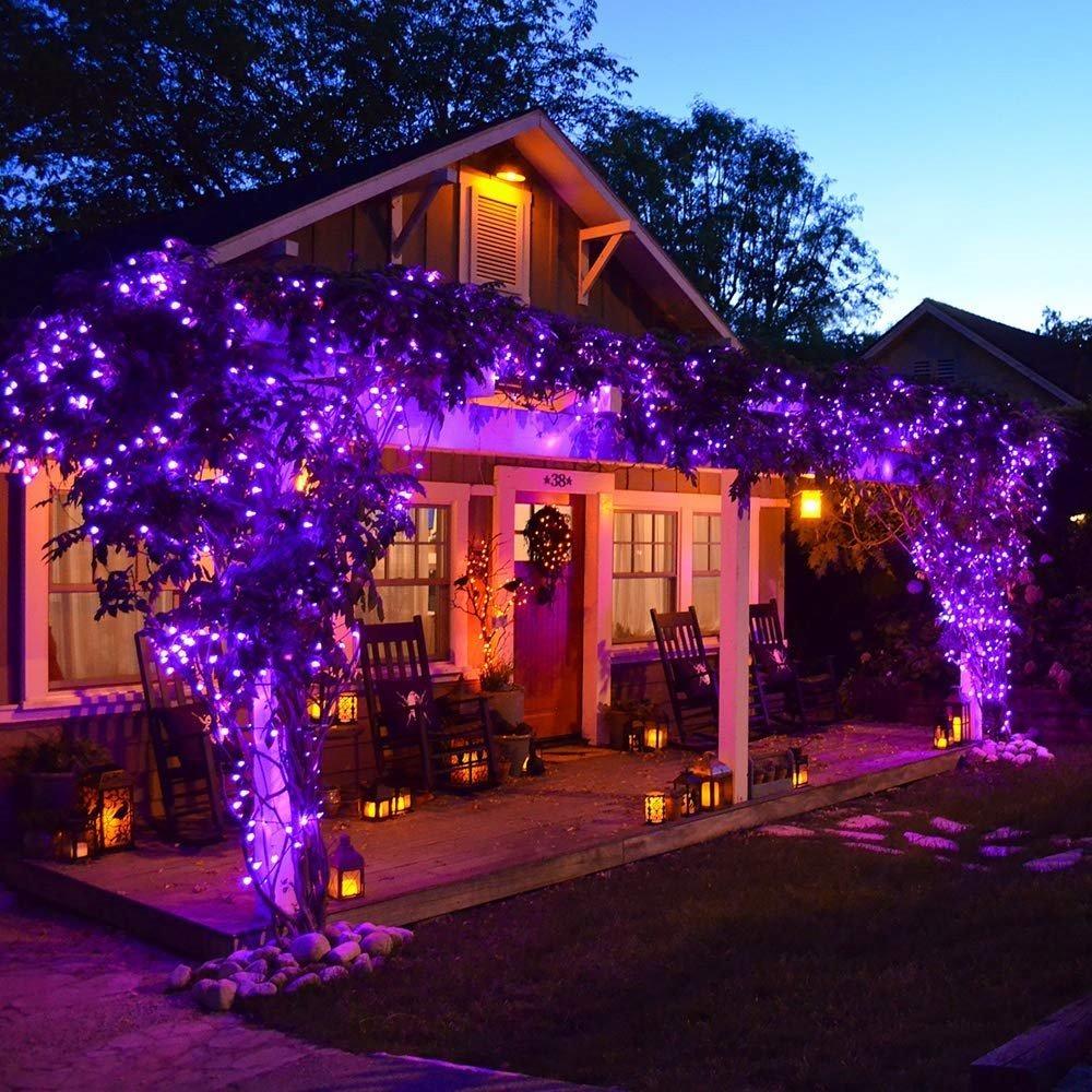 c07aa7388fd luces arbol de navidad 100 led 33 pies color morado ankuka. Cargando zoom.