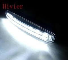 luces axiliares drl daytime 8 led  6000k  - 16watts