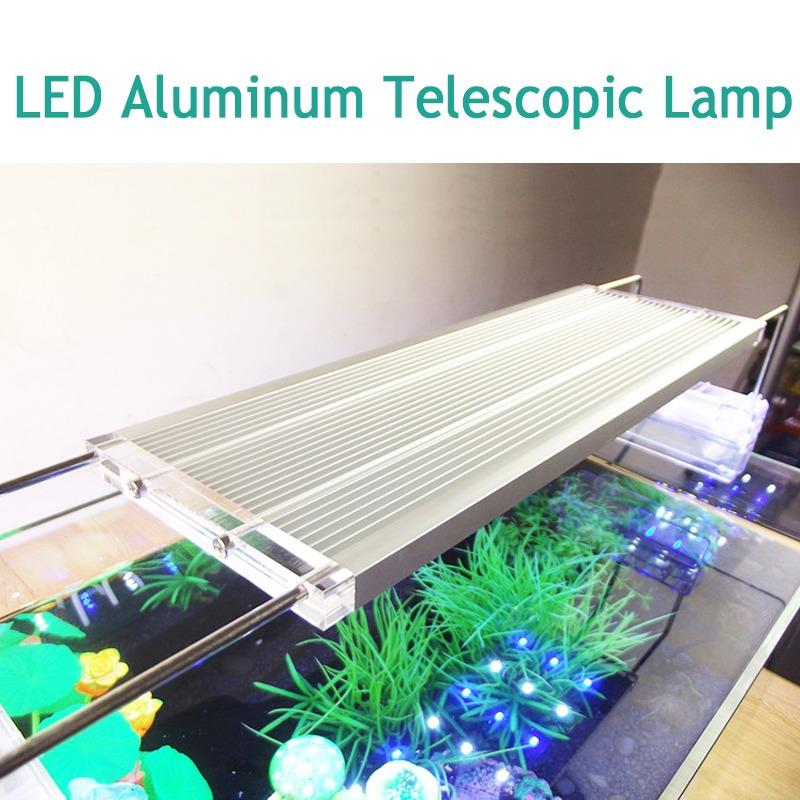 Blanco Lámparas Ajustable Luces Acuario Aleación Led Alu Luz WbYeD2I9EH