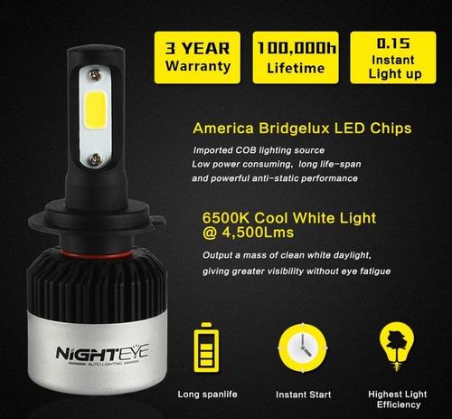 luces bombillo led, 9005 9006 h4 h7 h11carro moto 9000 lumen