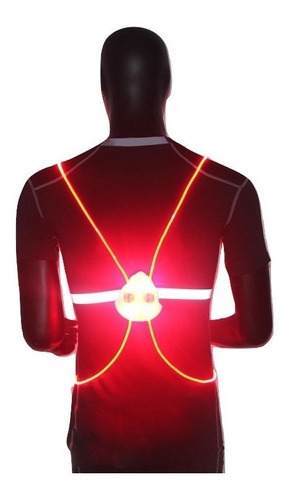 luces cinturon correr ciclismo luz trasera night cuotas