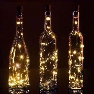 luces corcho hada alambre micro led boda deco blanco calido