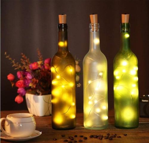 luces corcho micro led hada alambre boda deco calido / lhua