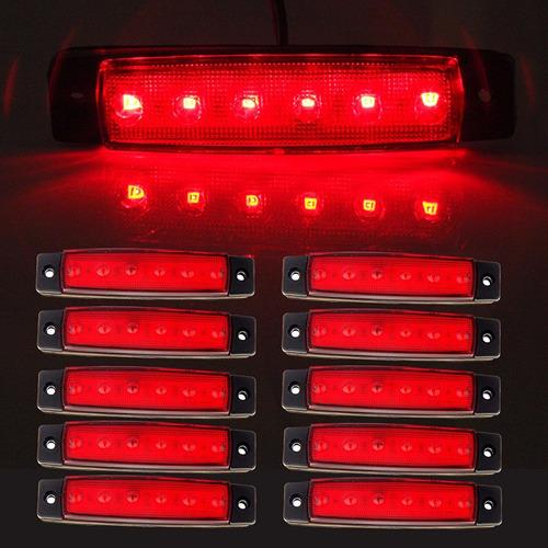 luces de 6 led para plataformas trailer de 9 centímetros