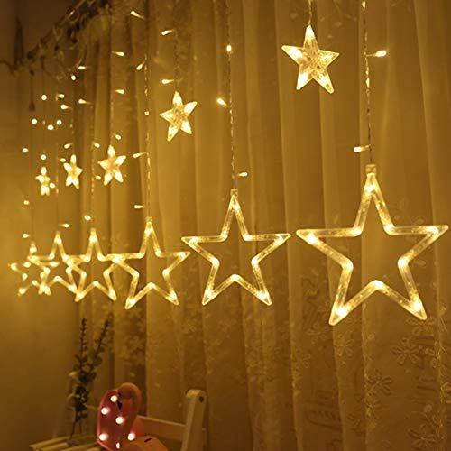d30a171779c Luces De Cadena De Cortina De 12 Estrellas 138 Led De Twink ...
