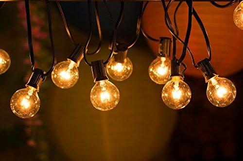 luces de la secuencia del globo 50ft g40 con bulbos-ul list