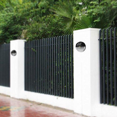 luces de la valla solar exulight decorativo poste de jardin