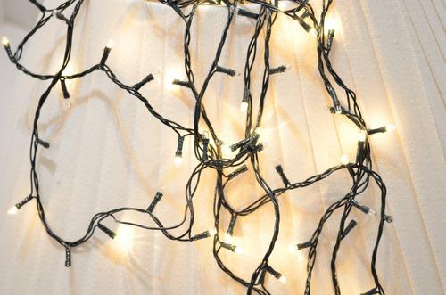 luces de navidad 100 luces arroz color blanco calido 5m