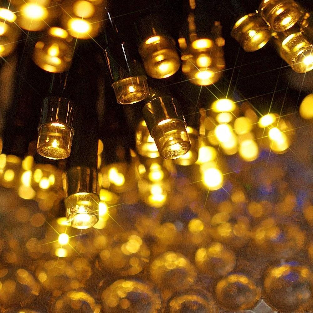 luces de navidad a energa solar leds blanco clido m