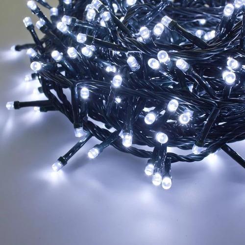 luces de navidad guirnalda 500 led blanco frio 50 metros