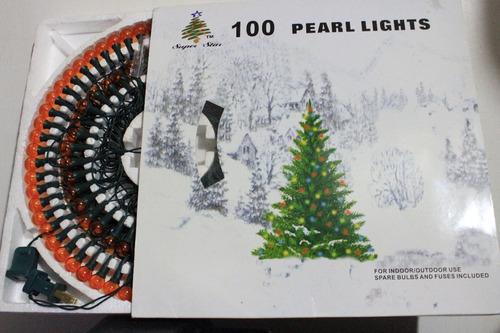 luces de navidad  super star  100 pearl lights amarilla