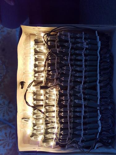 luces de navidad tradicional blanca y multicolor con 100