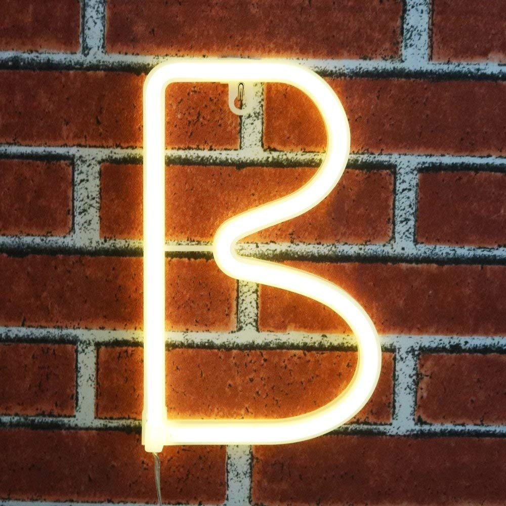 Luces de ne n decorativas c lidas letras alfabeto obrecis - Luces led calidas ...