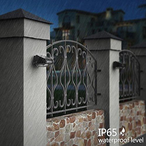 luces de poste de valla solar othway luces de pared