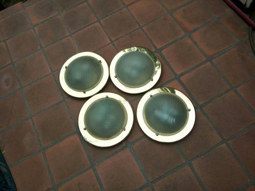 luces de techo circular dorado vidrio satinado