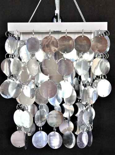 luces disco silver mirror pvc modern chandelier retro 70's
