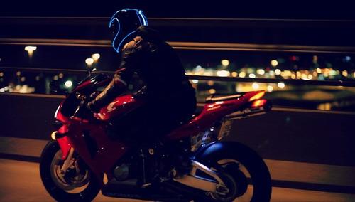 luces electroluminiscentes casco - moto - carro