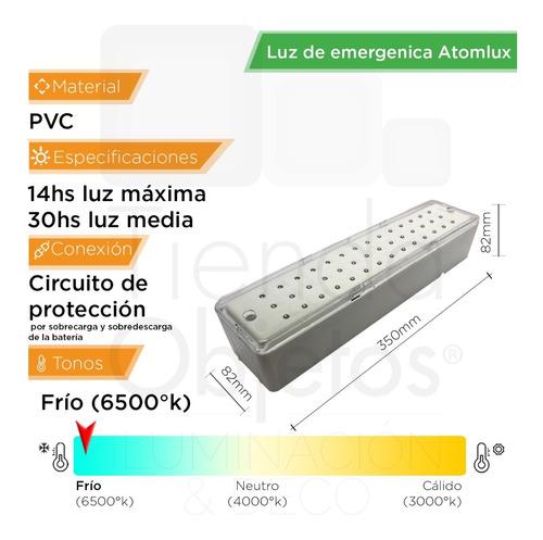 luces emergencia atomlux 2045 42 luz led 30 hs autonomia