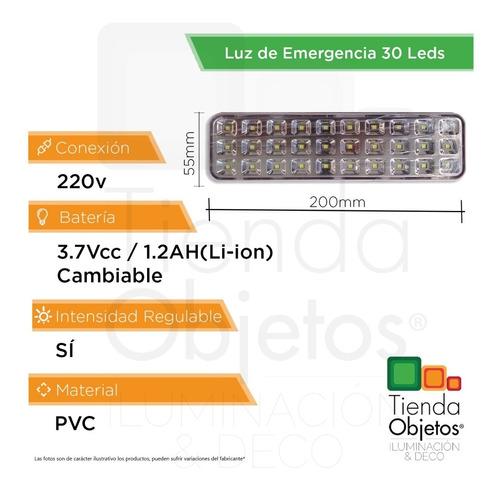 luces emergencia luz 30 5w fria led 8hs autonomia full