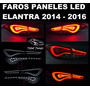 Paneles Led Insertables Faros Hyundai Elantra 2011 - 2016